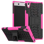 Чехол Yotrix Shockproof case для Sony Xperia XA1 ultra (розовый, пластиковый)