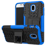 Чехол Yotrix Shockproof case для Samsung Galaxy J5 2017 J530 (синий, пластиковый)