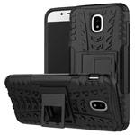 Чехол Yotrix Shockproof case для Samsung Galaxy J3 2017 J330 (черный, пластиковый)