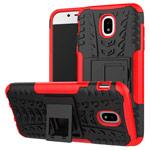 Чехол Yotrix Shockproof case для Samsung Galaxy J3 2017 J330 (красный, пластиковый)