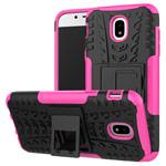 Чехол Yotrix Shockproof case для Samsung Galaxy J3 2017 J330 (розовый, пластиковый)