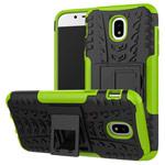 Чехол Yotrix Shockproof case для Samsung Galaxy J3 2017 J330 (зеленый, пластиковый)