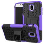 Чехол Yotrix Shockproof case для Samsung Galaxy J3 2017 J330 (фиолетовый, пластиковый)