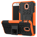 Чехол Yotrix Shockproof case для Samsung Galaxy J3 2017 J330 (оранжевый, пластиковый)
