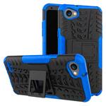 Чехол Yotrix Shockproof case для LG Q6 (синий, пластиковый)