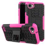 Чехол Yotrix Shockproof case для LG Q6 (розовый, пластиковый)