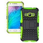 Чехол Yotrix Shockproof case для Samsung Galaxy J1 SM-J100 (зеленый, пластиковый)