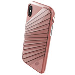 Чехол X-doria Revel Lux Case для Apple iPhone X (Rose Gold Rays, пластиковый)