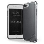 Чехол X-doria Defense Lux для Apple iPhone 8 plus (Gray Nylon, маталлический)