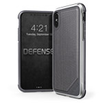Чехол X-doria Defense Lux для Apple iPhone X (Gray Nylon, маталлический)