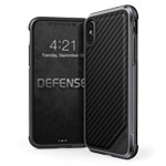 Чехол X-doria Defense Lux для Apple iPhone X (Black Carbon, маталлический)