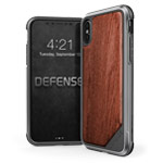 Чехол X-doria Defense Lux для Apple iPhone X (Wood, маталлический)