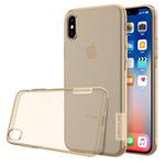 Чехол Nillkin Nature case для Apple iPhone X (золотистый, гелевый)