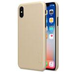 Чехол Nillkin Hard case для Apple iPhone X (золотистый, пластиковый)