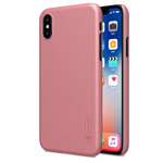 Чехол Nillkin Hard case для Apple iPhone X (розово-золотистый, пластиковый)