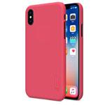 Чехол Nillkin Hard case для Apple iPhone X (красный, пластиковый)