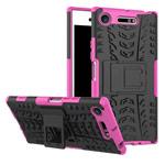 Чехол Yotrix Shockproof case для Sony Xperia XZ1 (розовый, пластиковый)