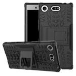Чехол Yotrix Shockproof case для Sony Xperia XZ1 compact (черный, пластиковый)