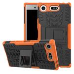 Чехол Yotrix Shockproof case для Sony Xperia XZ1 compact (оранжевый, пластиковый)