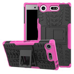 Чехол Yotrix Shockproof case для Sony Xperia XZ1 compact (розовый, пластиковый)