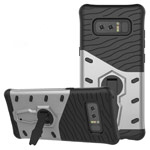 Чехол Yotrix StandCase для Samsung Galaxy Note 8 (серебристый, пластиковый)