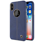 Чехол Nillkin Englon Leather Cover для Apple iPhone X (синий, кожаный)