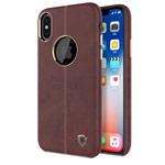 Чехол Nillkin Englon Leather Cover для Apple iPhone X (коричневый, кожаный)