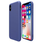 Чехол Nillkin Eton case для Apple iPhone X (синий, пластиковый)