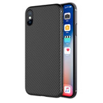 Чехол Nillkin Synthetic fiber для Apple iPhone X (черный, карбон)