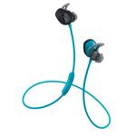 Наушники Bose SoundSport Wireless универсальные (беспроводные, черные/голубые, микрофон)