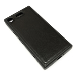 Чехол Yotrix SnapCase для Sony Xperia XZ1 compact (черный, кожаный)