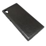 Чехол Yotrix SnapCase для Sony Xperia XA1 plus (черный, кожаный)