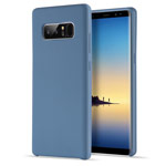 Чехол Yotrix LiquidSilicone для Samsung Galaxy Note 8 (синий, гелевый)