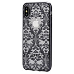 Чехол Devia Crystal Baroque для Apple iPhone X (Gun Black, гелевый)
