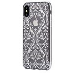Чехол Devia Crystal Baroque для Apple iPhone X (Silvery, гелевый)