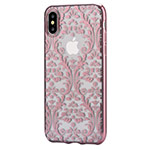 Чехол Devia Crystal Baroque для Apple iPhone X (Rose Gold, гелевый)