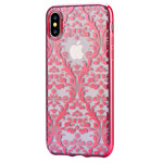Чехол Devia Crystal Baroque для Apple iPhone X (Red, гелевый)