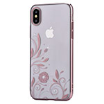 Чехол Devia Crystal Petunia для Apple iPhone X (Rose Gold, пластиковый)