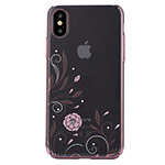 Чехол Devia Crystal Petunia для Apple iPhone X (Red, пластиковый)