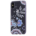 Чехол Devia Crystal Bloosom для Apple iPhone X (Gun Black, гелевый)