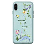 Чехол Devia Flower Embroidery для Apple iPhone X (Lanzh, кожаный)
