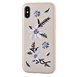 Чехол Devia Flower Embroidery для Apple iPhone X (Jalam, кожаный)