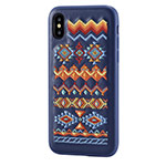 Чехол Devia Flower Embroidery для Apple iPhone X (Bohemian, кожаный)