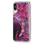 Чехол Vouni Mirror Flower для Apple iPhone X (красный, гелевый)