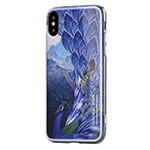 Чехол Vouni Mirror Flower для Apple iPhone X (синий, гелевый)