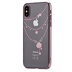 Чехол Devia Crystal Shell для Apple iPhone X (Rose Gold, пластиковый)