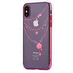 Чехол Devia Crystal Shell для Apple iPhone X (Red, пластиковый)