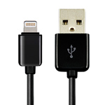 USB-кабель Dexim USB Lightning cable для Apple iPhone 5/iPad 4/iPad mini/iPod touch 5/iPod nano 7 (черный, Lightning)