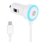 Зарядное устройство Dexim Mini Car charger 1A для Apple iPhone 5/iPod touch 5/iPod nano 7 (автомобильное, белое, Lightning)