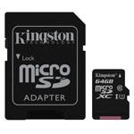 Флеш-карта Kingston microSD (64Gb, microSD, Class 10 U1)